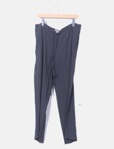 Conjunto top y pantalón fluido gris marengo