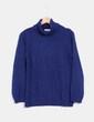 Top tricot cuello alto azul Canda