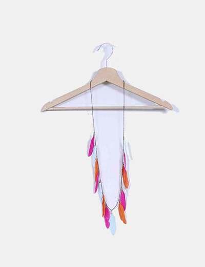 Colgante de plumas multicolor NoName
