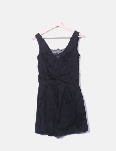 Vestido negro con encaje Suiteblanco