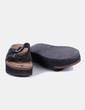 Sandales plate noires -forme Atmosphere
