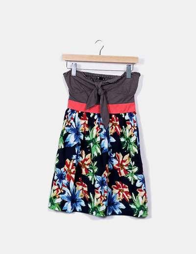 Floral strapless dress Shana