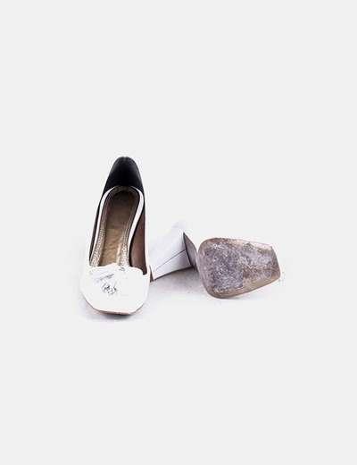 Blanco Zapato Pompones Zapato Zapato Con Pompones Blanco Con iwkuTPOXZ
