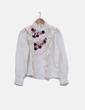 Blusa blanca combinada detalles plisados Manoush