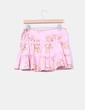 Falda rosa volantes print floral Bershka