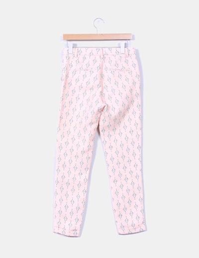 Pantalon rosa estampado