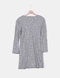 Maxi vestido gris manga larga detalle hombreras Carling