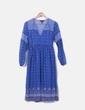 Vestido fluido azul marino estampado New Look