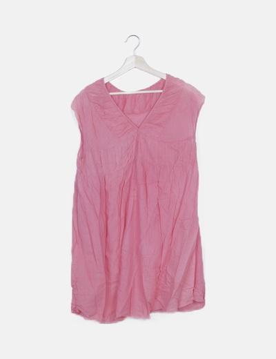 Vestido rosa combinado
