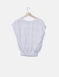 Jersey tricot blanco calado Massimo Dutti