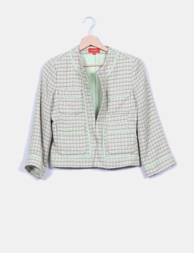Chaqueta blazer texturizada, estilo chanel Cooperative