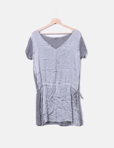 Camiseta gris doble textura