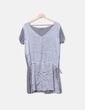 Camiseta gris doble textura NoName