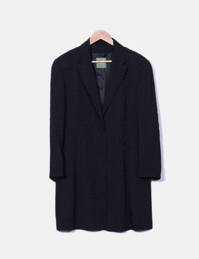 Abrigo texturizado negro Roberto Verino