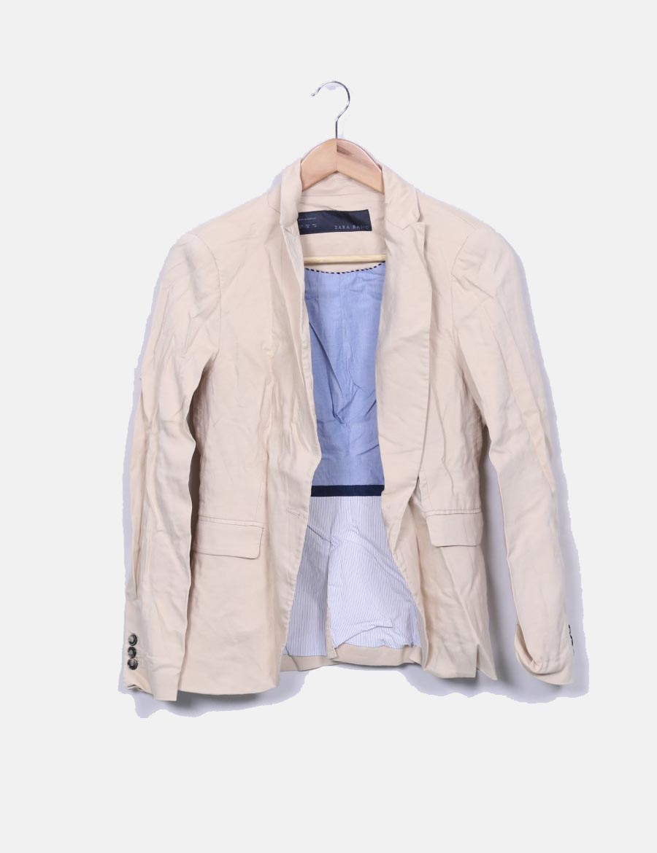 ed264f144d7 Abrigos beige y baratos online Chaquetas Blazer Zara Mujer de pwxxH ...