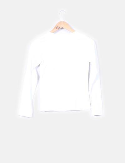 Camiseta blanca print terciopelo