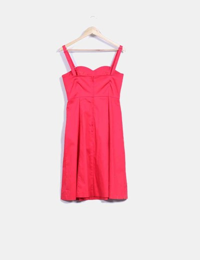 Vestido rojo escote corazon