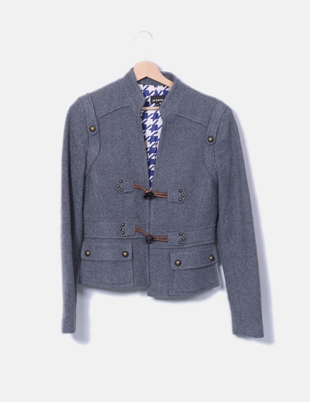 Jeans Mujer gris y online Chaquetas Trench Abrigos baratos texturizada de  Weber TtxZqU8 ... 0fec20608aed