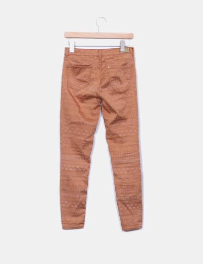 Pantalon estampado etnico