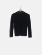 Chaqueta tricot negra Mango