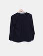 Camiseta negra print girl texturizado Manolita