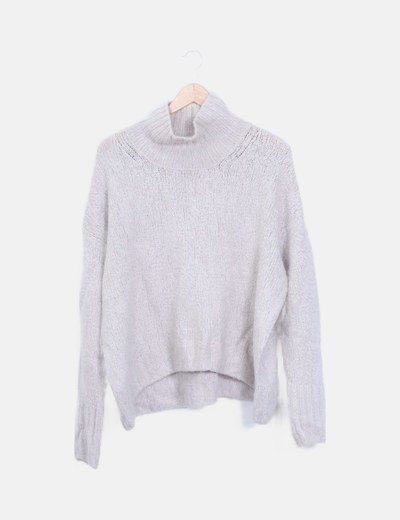 Jersey lana gris claro