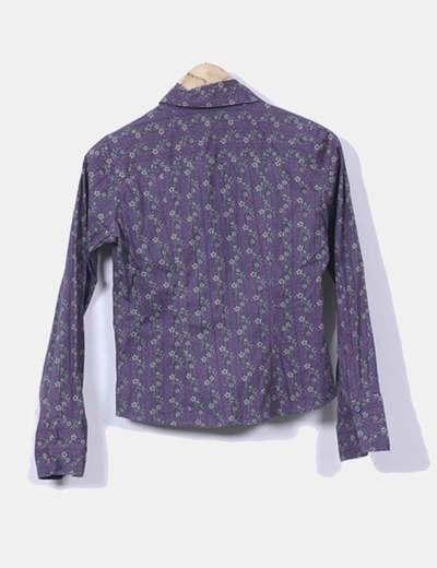 Camisa gris estampada