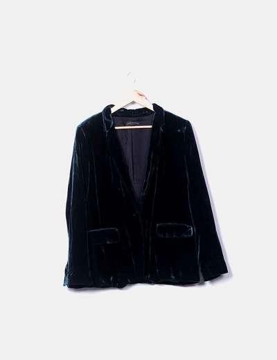 74 di Zara sconto Giacca verde Micolet vellutato xax6OqwX
