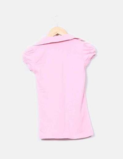 Polo rosa manga corta