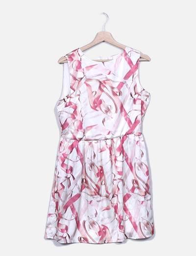 Vestido de cetim estampado Suiteblanco