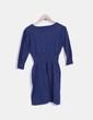 Vestido tricot azul Mango