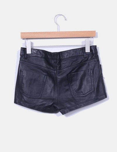 Shorts polipiel negro