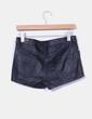 Shorts polipiel negro H&M