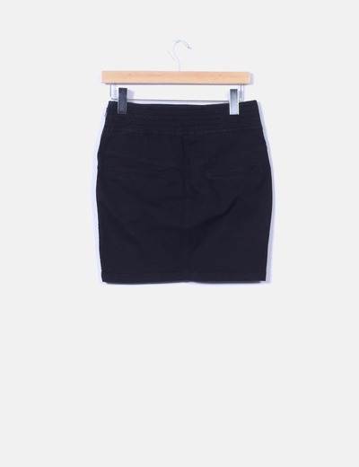 d3171a1f852bc Zara Minifalda negra tubo detalle botones (descuento 95%) - Micolet