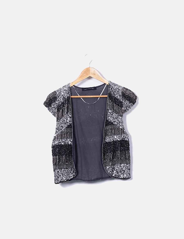 c9b17d35128 paillettes y de baratos online Mujer Zara gris Abrigos Chaquetas Chaleco  OI51wqO ...