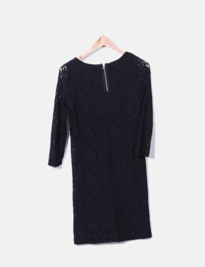 Vestido negro benetton