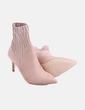 Botín calcetín rosa con tacón Zara