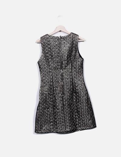 Vestido glitter texturizado