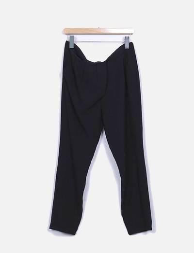 Calças largas pretas Suiteblanco