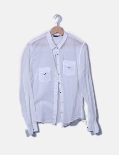 Camisa blanca fina Zara