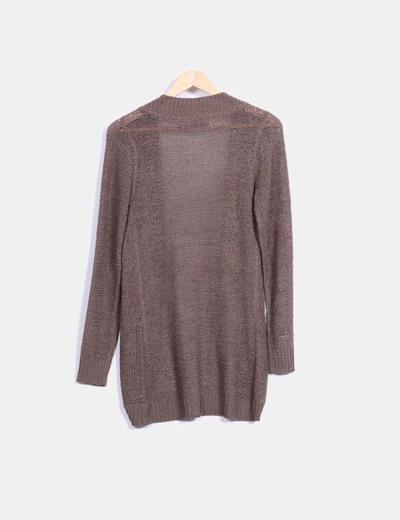 Cardigan tricot marron