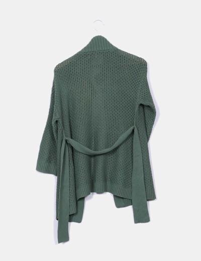 Chaqueta tricot verde