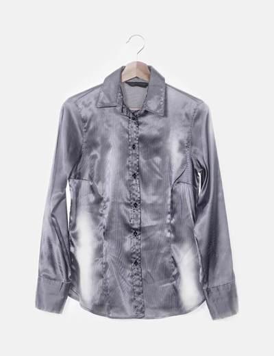 Camisa satinada de rayas