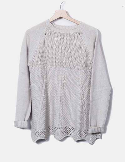 Beige jersey knit NoName