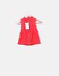 Top de encaje bordado rojo Zara