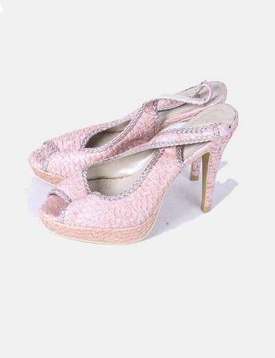 Zapato rosa texturizado  Farasion