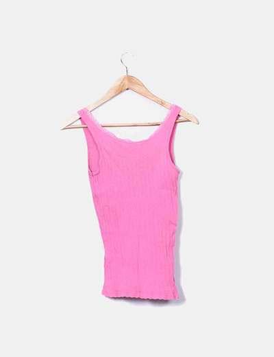 713d52768b725 Pull Bear Camiseta tirantes rosa (descuento 83%) - Micolet