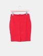 Falda midi roja ajustada Zara