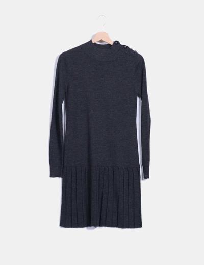 Vestido tricot gris  BDBA