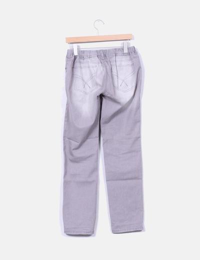 Legging gris con goma en cintura